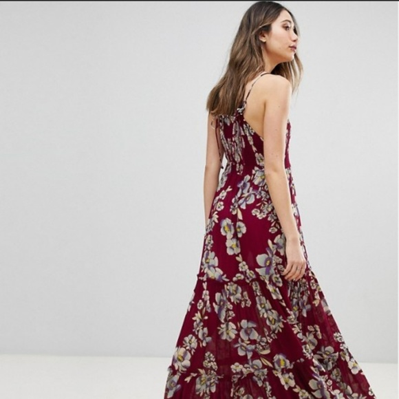 Free People Dresses & Skirts - Free People Garden Party Maxi in Raspberry